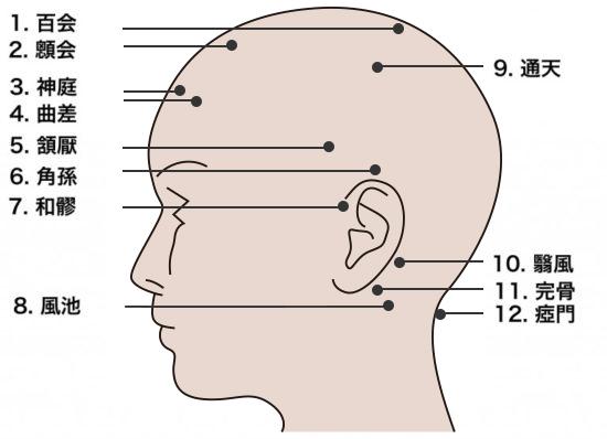 頭皮マッサージのツボ1